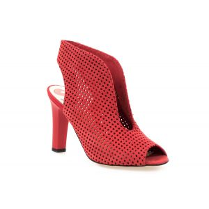 Sandały  CARINII B3620 czerwone by Maja Sablewska