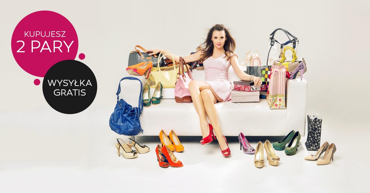Kupując conajmniej dowolne dwie pary obuwia, wysyłka GRATIS!