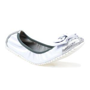 Balerinki  Neścior  040-G biały R/srebrny Z3