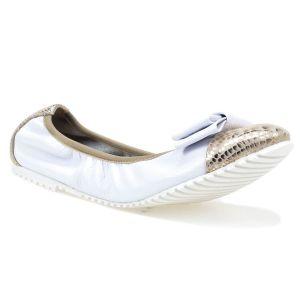 Balerinki  Neścior  040-G biały R/złoty Z3