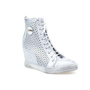 Sneakersy J.WOLSKI  585 srebrne