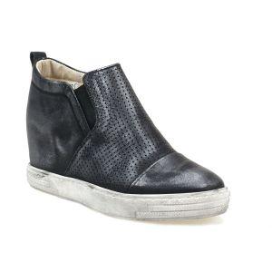 Sneakersy J.WOLSKI 478 czarny srebrny  przecierany