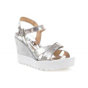 Sandały MM OLEKSY 235 srebrne