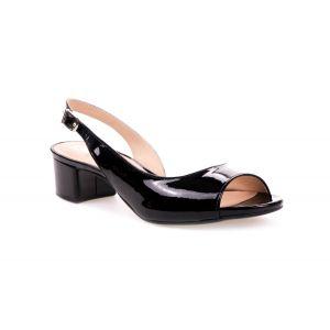 Sandały MM Oleksy 327 czarny lakier