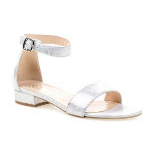 Sandały na lato Sala 5094/1089 srebrne przecierane