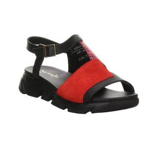 Sandałki  Maciejka 04891-08 czarne czerwone