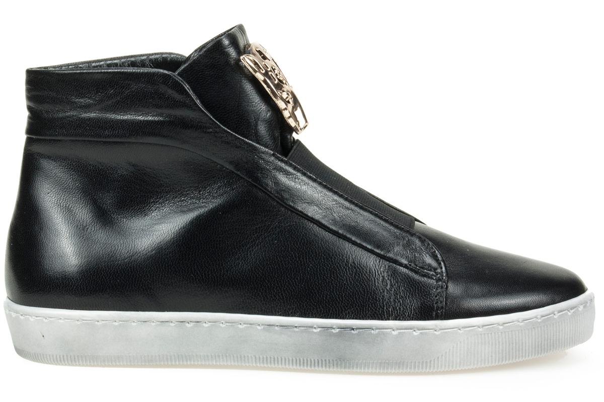 J. Wolski 515 czarne sneakersy półbuty skóra naturalna lico