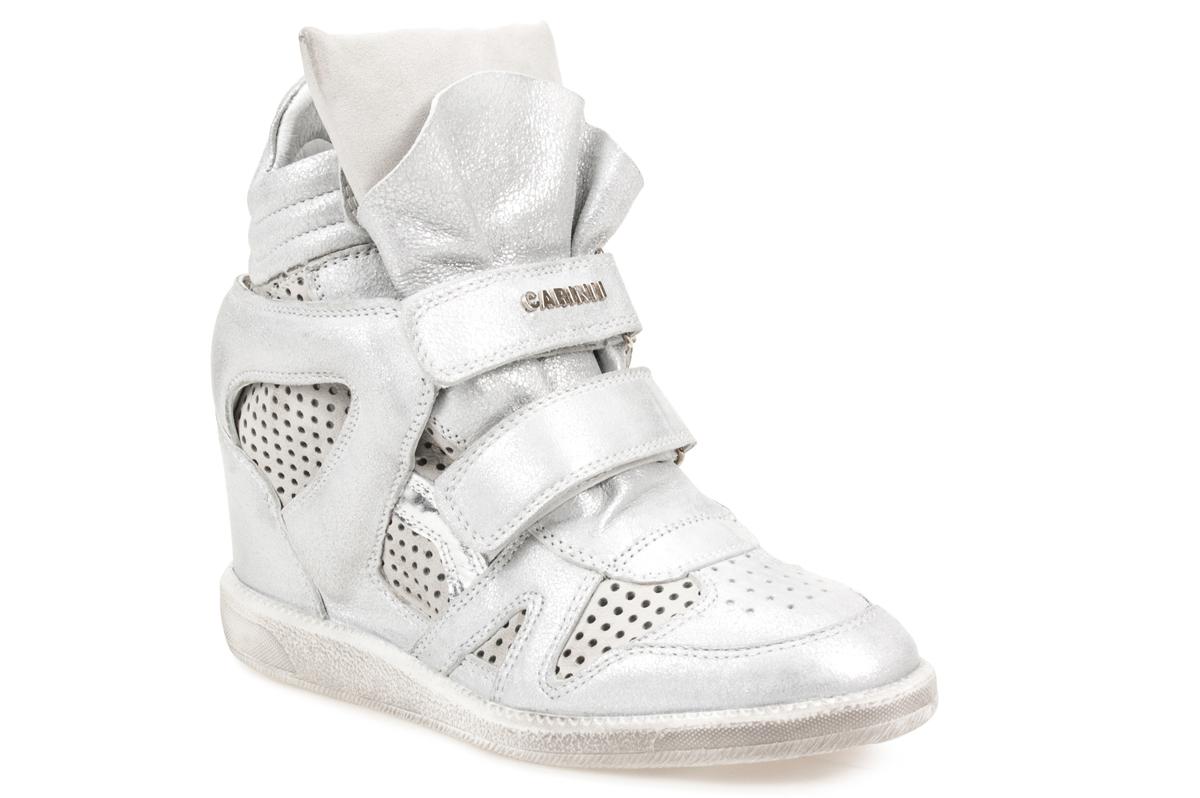 Sneakersy CARINII B3400 srebrne