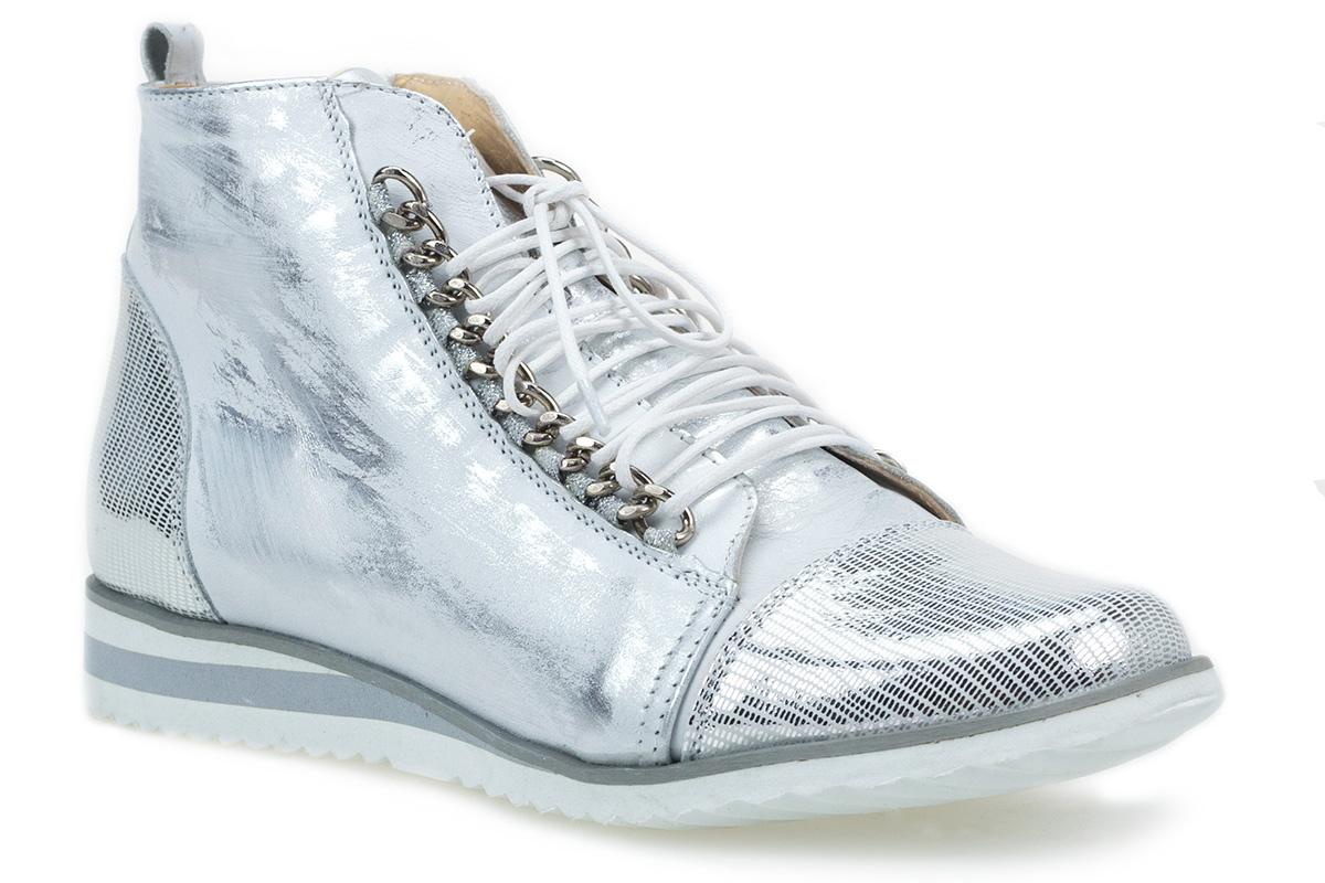 Sneakersy J.WOLSKI 083 srebrne