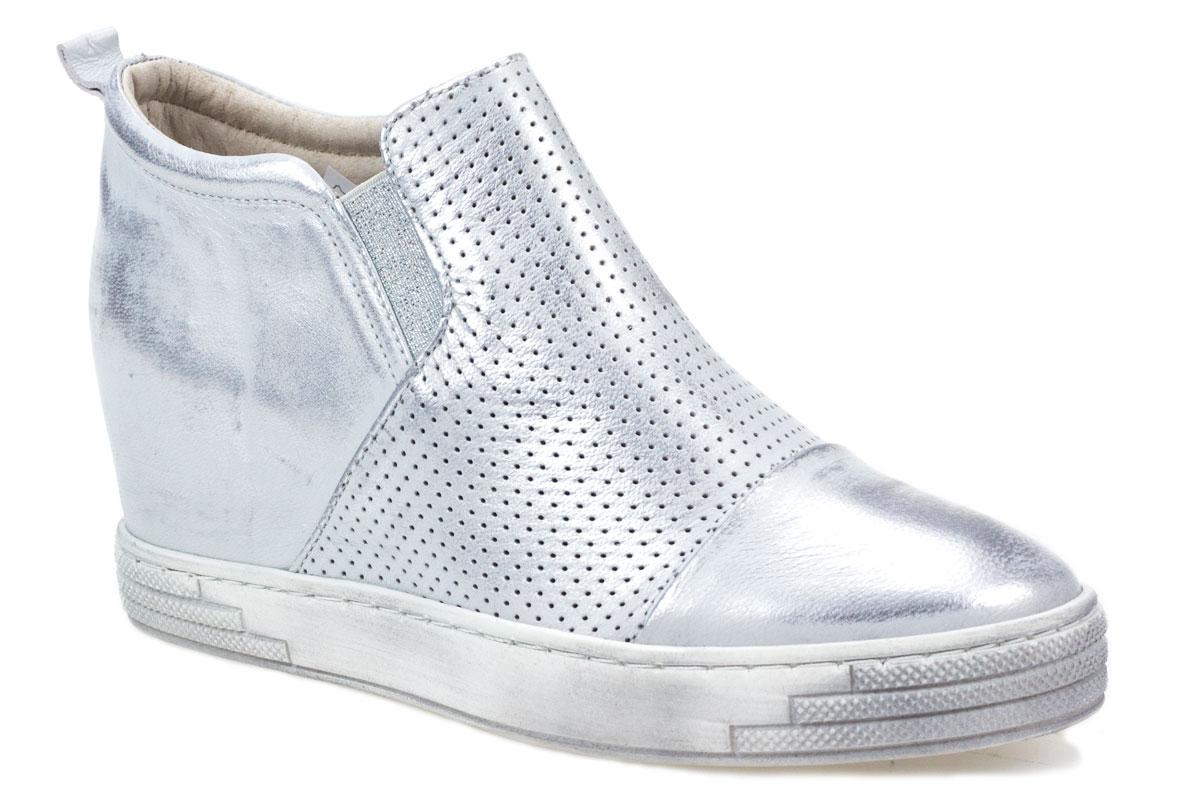 Sneakersy J.WOLSKI 478 białe srebrne
