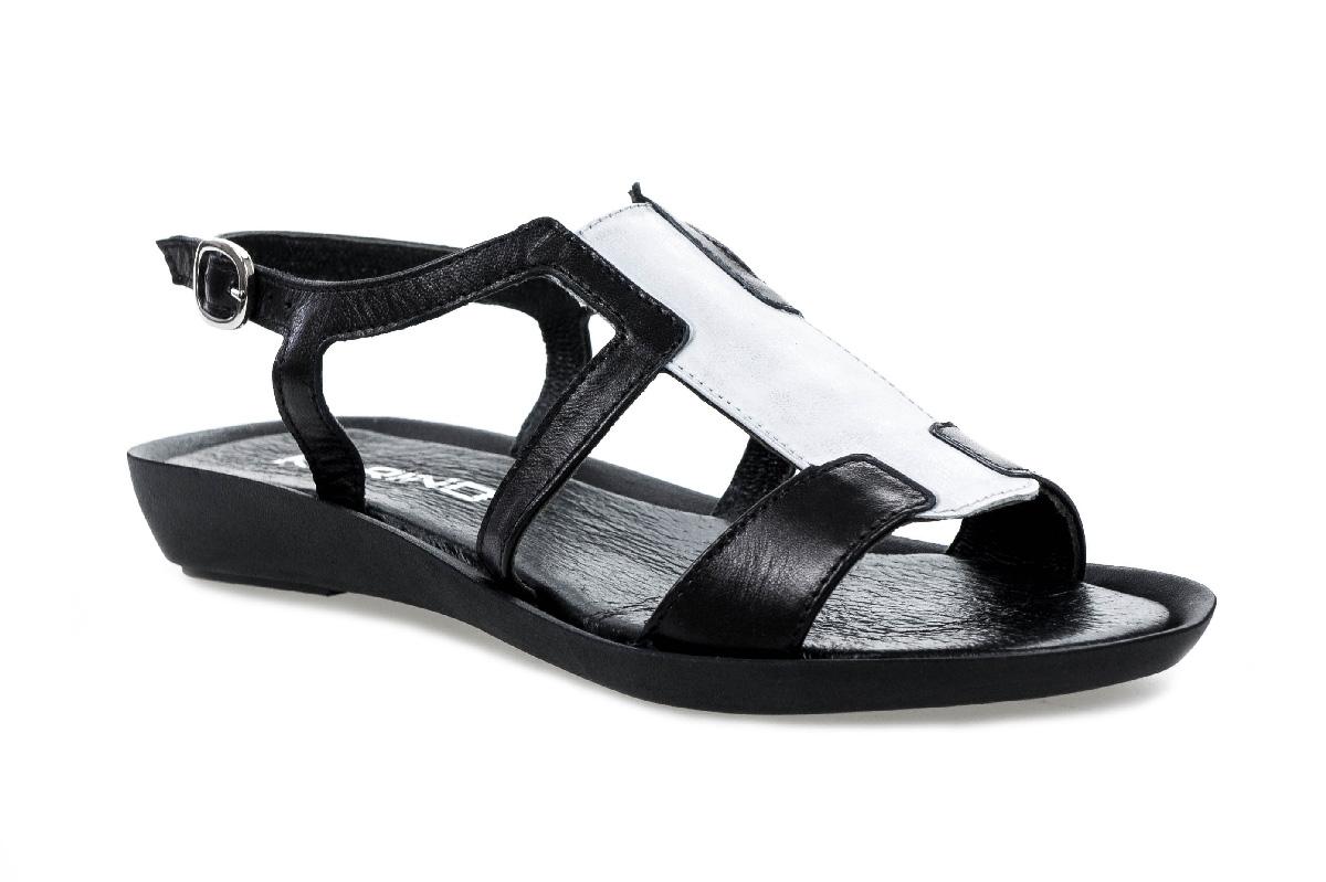 Sandały KARINO 1703/115-P czarno srebrne