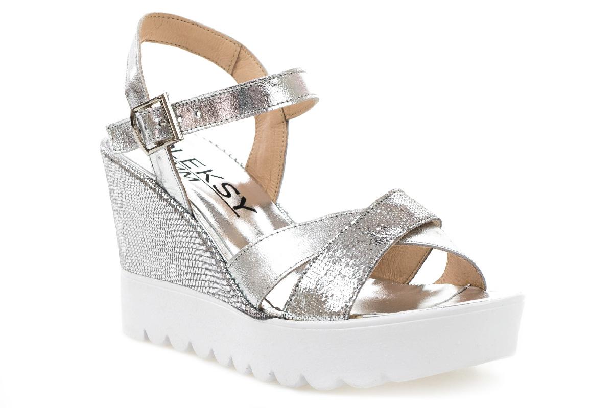 Sandały MM OLEKSY 235/524 srebrne