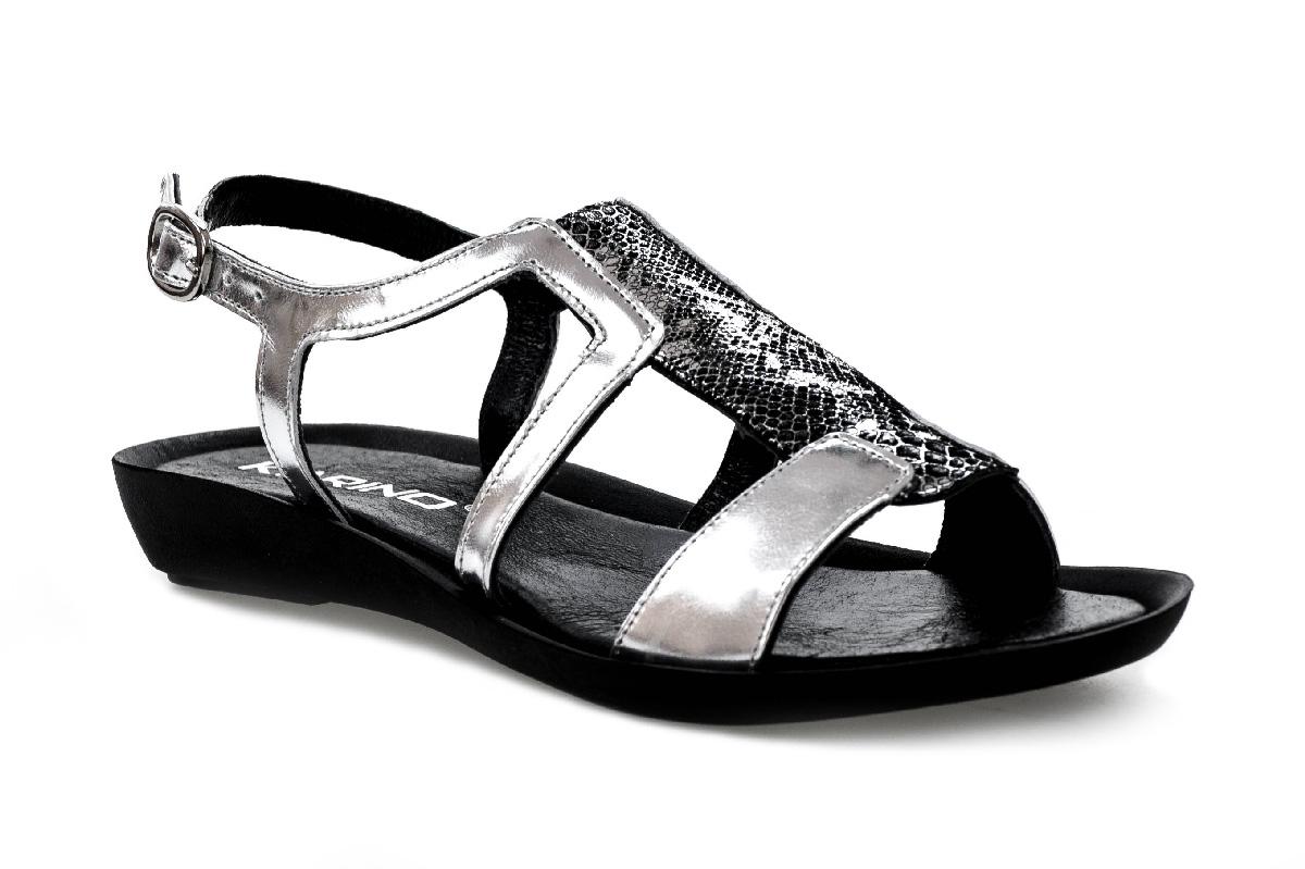 Sandały KARINO 1703/127-P szaro srebrne