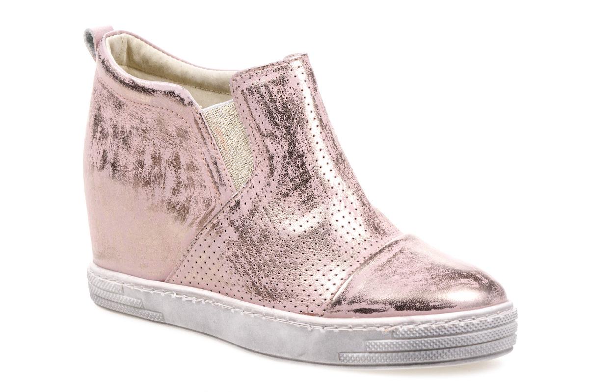 Sneakersy J.WOLSKI 478 róż złoty przecierany