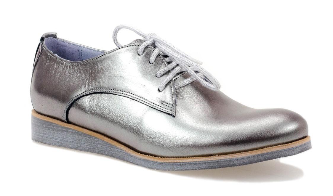Półbuty  KARINO 1646/040-P ciemny srebrny