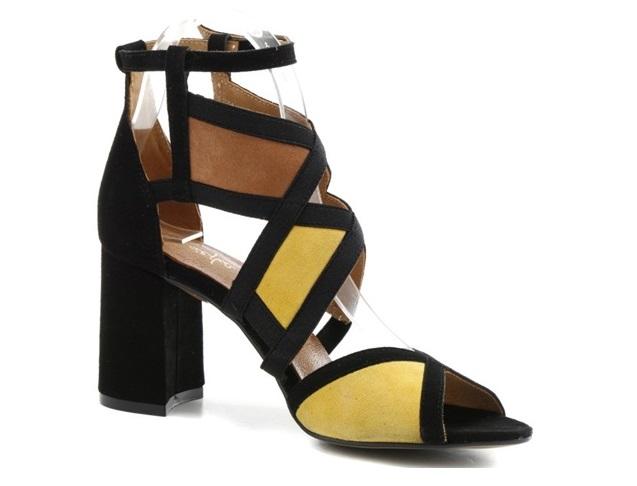 Sandałki  Maciejka  05181-07 żółte rude czarne